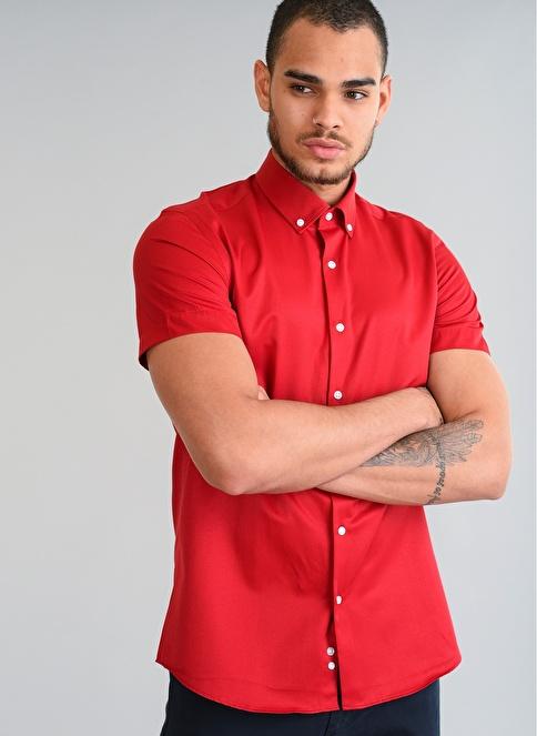 People By Fabrika Gömlek Kırmızı